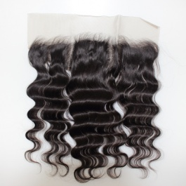 100% Hand Tied Ear to Ear 13x4 Loose Wave Frontal Closure Brazilian hair