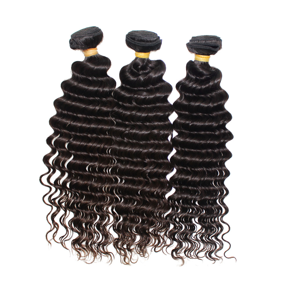 Steam Processed Deep Wave Hair Extensions Brazilian Hair Weave