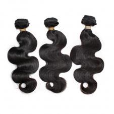 100% virgin Brazilian body wave big wave fresh hair 3bundles with free style closure Dropship