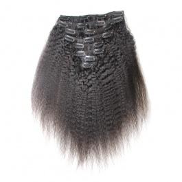 Elesis virgin hair clip in human hair 8pcs set 140grams natural color