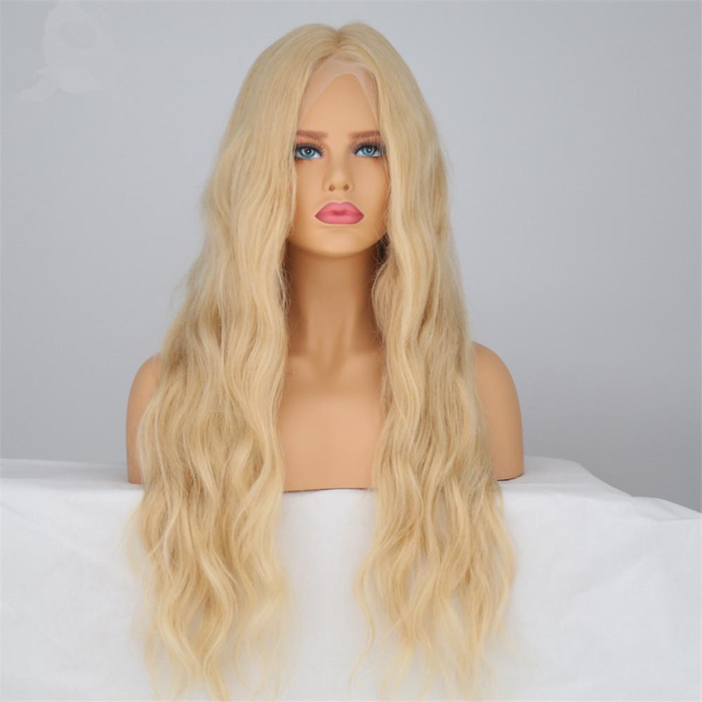 Higher Class Glueless Skin Mono Blonde Wig Natural Wave Hair The White Women  Senior Virgin Remy 6a22fd4089