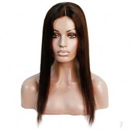 Silky Straight Customized Natural Scalp Mono wigs Glueless Brazilian Remy Virgin Human Hair Wig For Black Women