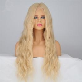 Higher Class Glueless Skin Mono Blonde Wig Natural Wave Hair The White Women Senior Virgin Remy Hair 100% Silk Weaving