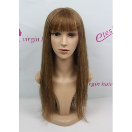 Full Lace Seamless Monofilament wig Straight Hair Color #5 100% Virgin Remy Hair with baby hair BOB style