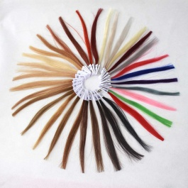 Hair sample coloring ring swatch ring for salon hairstylist