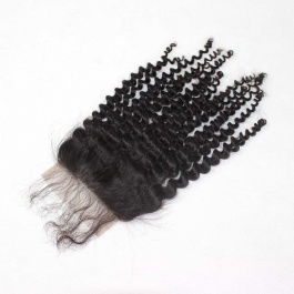 4x4 Swiss Lace/Transparent LACE/HD lace free part Kinky Curly closures