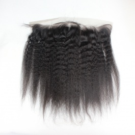 13x4 Kinky Straight Swiss Lace/Transparent LACE/HD lace frontal free part