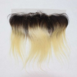 Ombre Dark Root 1b/613 Platinum Blonde Straight 13x4 Ear to Ear Lace Frontal Closure
