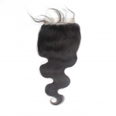 Elesis Virgin Hair Top Grade Body Wave Swiss Lace/Transparent Lace/HD Lace 5x5 Free Part Unprocessed Human hair Closure