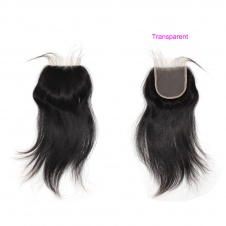 4X4 Top Lace/Silk base  closure Pre Plucked Straight Lace Closure 130% density Natural Color
