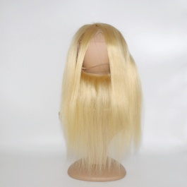 360Frontal blonde #613 Straight ear to ear frontal