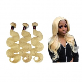 Honey blonde body wave 613color virgin remy hair 3bundles
