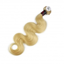 high quality 613 blonde body wave humanhair extensions single bundle
