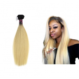 """Elesis virgin hair darkroot blonde virgin hair 1b/613 straight hair extensions 1pcs 10""""-24"""""""