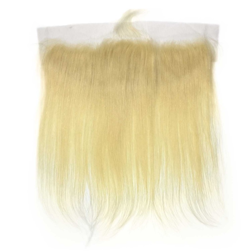 613 Lace Frontal 13x4 Ear to Ear Blonde Frontal Closure Straight Human Hair
