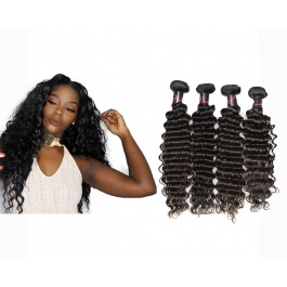 4 Bundles Virgin grade Elesis Virgin Hair Deep Wave Virgin Human Hair