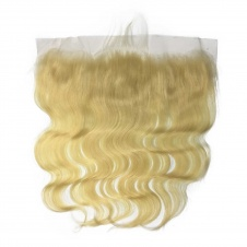 613 Platinum Blonde Body Wave Human hair Pre Plucked 13x4 Frontal Lace
