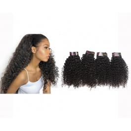 4 Bundles Virgin grade Elesis Virgin Hair kinky curly Weave Jerry Curly virgin hair