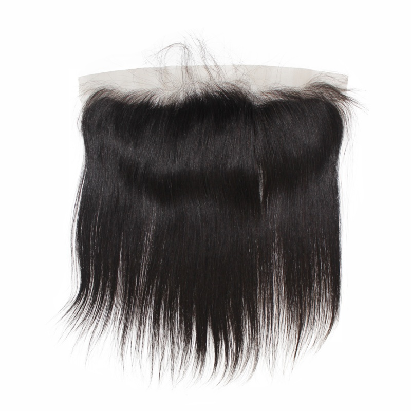Elesis Straight Swiss Lace/HD frontal Silk base  Frontal Free Part 13x4 Pre Plucked Ear to Ear frontal Closure with Baby