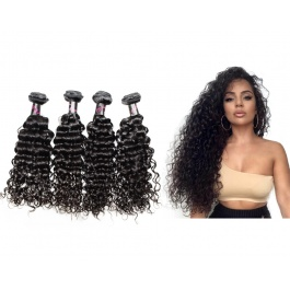 4 Bundles Virgin grade Elesis Virgin Hair New Product Water Wave Weave Virgin Hair