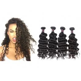 4 Bundles Virgin grade Elesis Virgin Hair Natural Wave Weave Virgin Human Hair