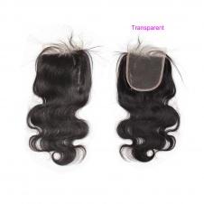 Elesis Hair Brazilian Body Wave 4x4 Lace/Silkbase Closure 100% Unprocessed Human Virgin Hair Natural Color