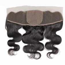 Lace/Silk base Frontal Closure 13 x 4 Brazilian Virgin Human Hair Body Wave Pre Plucked Ear To Ear Lace Frontals
