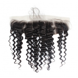 Ear to Ear 13x4 Deep Wave Lace/Silk base Frontal Pre Plucked with Baby Hair Bleached Knots  Brazilian Virgin Human Hair