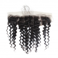 13x4 Deep Wave frontal Swiss Lace/Transparent Lace/ HD Lace/ Silk base Frontal Pre Plucked with Baby Hair