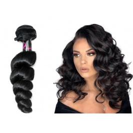 Virgin grade Elesis Virgin Hair Product 1 piece Loose Curl Human Virgin Hair Extensions