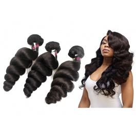 Hot Selling Virgin Grade Human Virgin Hair Loose Curly 3 Bundles 300g