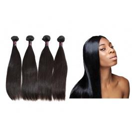 4 Bundles Virgin grade Elesis Virgin Hair Human Virgin Straight Hair Weaves