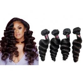 4 Bundles Virgin grade Elesis Virgin Hair Loose Curl Bouncy Virgin Hair