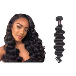 Virgin grade Elesis Virgin Hair Product 1 piece Loose Wave Human Virgin Hair Extensions