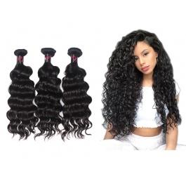 Hot Selling Virgin Grade Natural Wave Virgin hair Wavy Human Hair 3 Bundles 300g