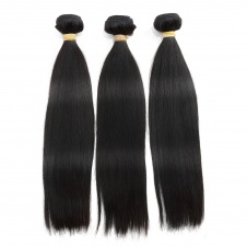 silky soft tanglefree noshedding Peruvian straight hair thick hair 3bundles with 4x4closure