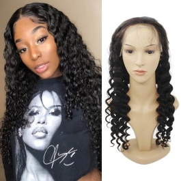 Lace Front Human Hair Wigs Pre Plucked with Baby Hair Loose Wave Brazilian Virgin Hair Glueless 130% Density 13x4 Lace F