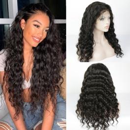 Elesis Virgin Hair 130% Density Brazilian Remy Hair Full Lace Wigs Loose Wave Virgin Human Hair  Lace Wigs
