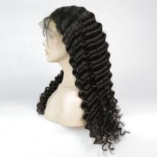Elesis Deep Wave Human Hair Wigs 180% Density Lace Front Wigs Human Hair Pre Plucked 360 Lace Frontal Wig Brazilian Huma