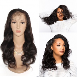150% Density Full Lace Wig Human Hair  Brazilian Body Wave Virgin Hair lace Wigs with Baby Hair for Black Women