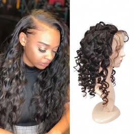 Loose Wave Full Lace Human Hair Wigs 150% Density Glueless Brazilian Virgin Hair Loose Curly Wig