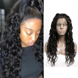 Full Lace Human Hair Wigs For Black Women Brazilian Remy Hair Natural Wave Wet and Wavy Wigs 180% Density