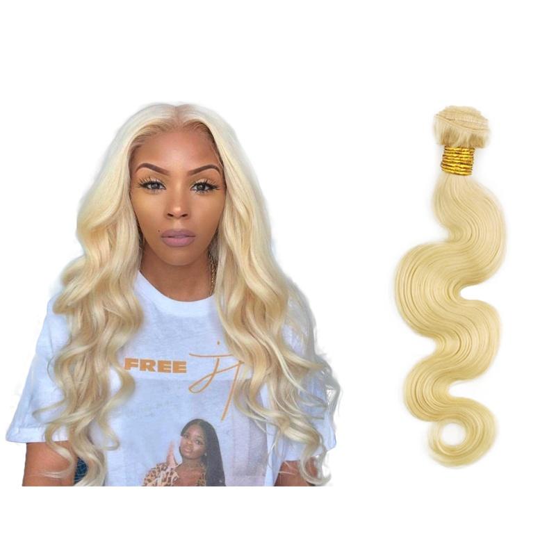 Brazilian Hair Body Wave Blonde 613  Real Human Hair Bundles Remy Hair Extensions Blonde Weave Bundle For Women Single B