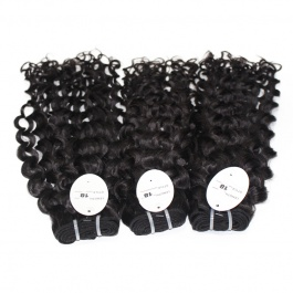 Elesis hair extensions 100% remy human hair water wave Italy Curly weaving 1B color 3bundles
