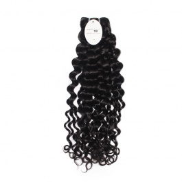 Elesis hair extensions 100% remy human hair water wave Italy Curly weaving 1B color 1bundle