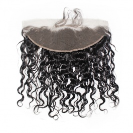 13x4 Remy Hair Natural Wave Lace Frontal Closure Free part
