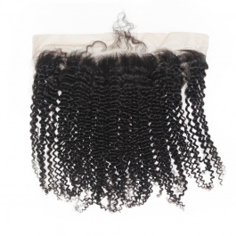 13x4 Remy Hair Kinky Curly Lace Frontal Closure Free part