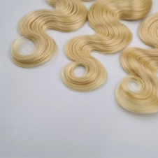 Platinum Blonde 613 Body Wave Hair Brazilian Remy Human Hair 300 grams Full Head Three Bundles Thick to Ends