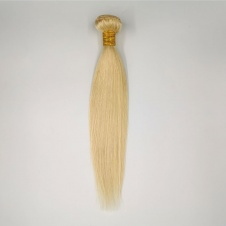 #613 Blonde Human Hair Bundle Straight Hair Weave 100% Cuticle Aligned Remy Hair Extensions Platinum Hair Weft 1piece
