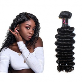 Virgin grade Elesis Virgin Hair Product Virgin grade 1 piece Deep Wave Human Virgin Hair Extensions